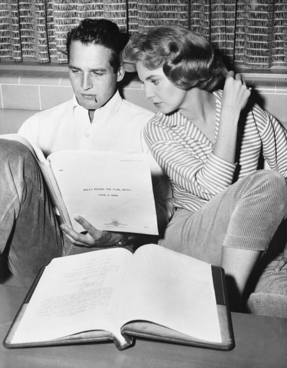 Пол Ньюман и его жена Джоан Вудворд, 1958