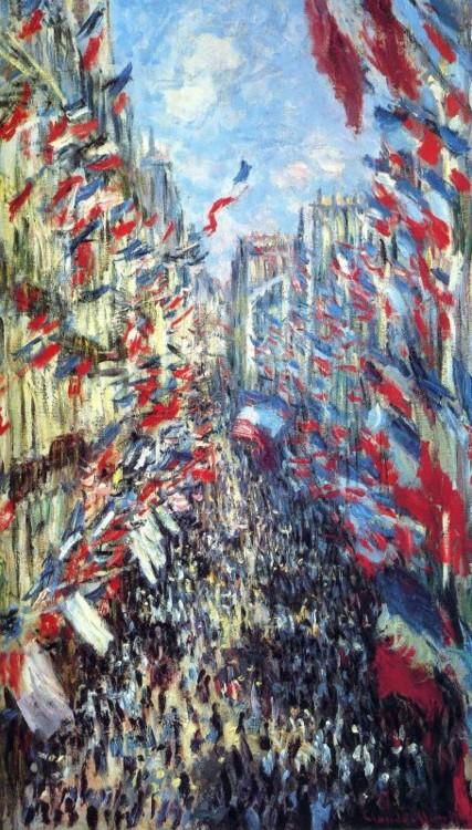 «Рю Монторгей в Парижі, фестиваль 30 червня 1878», 1878