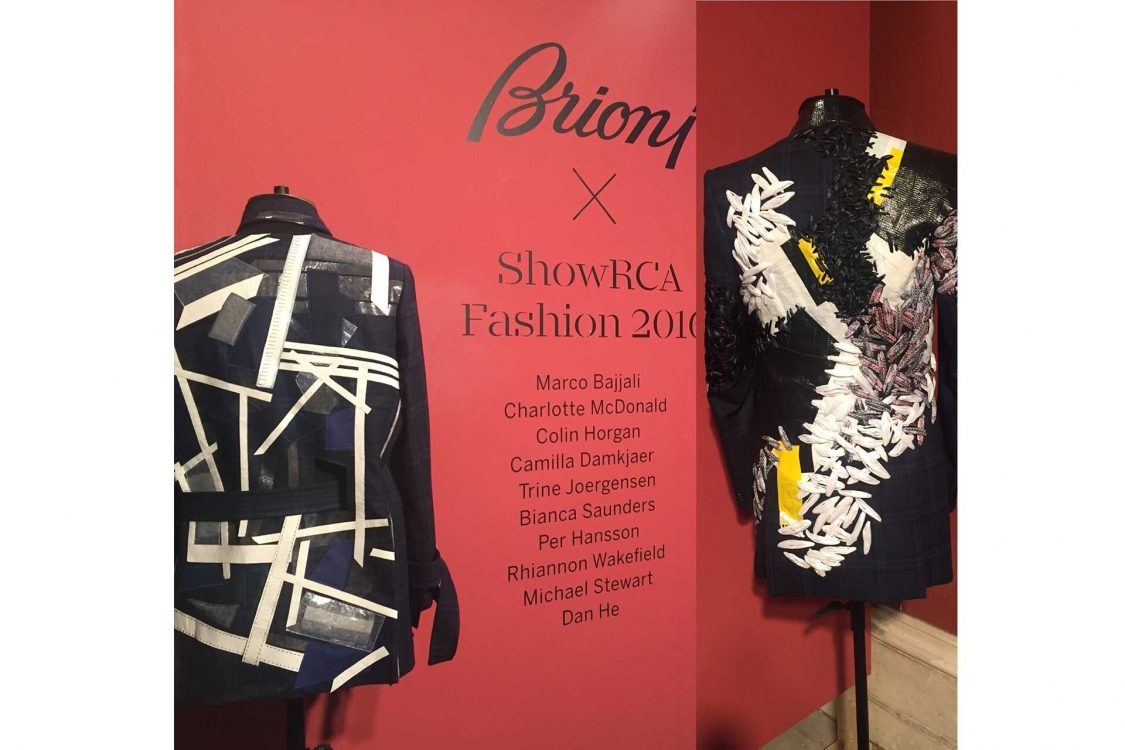 Brioni has supported the RCA Fashion department for 10 years