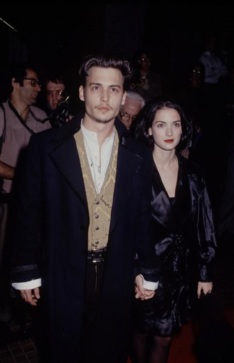 Джонни Депп и Вайнона Райдер, 1990
