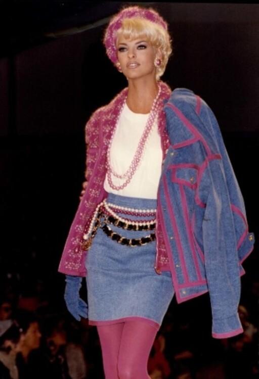 Лінда Євангеліста на показі Chanel, 1991 рік
