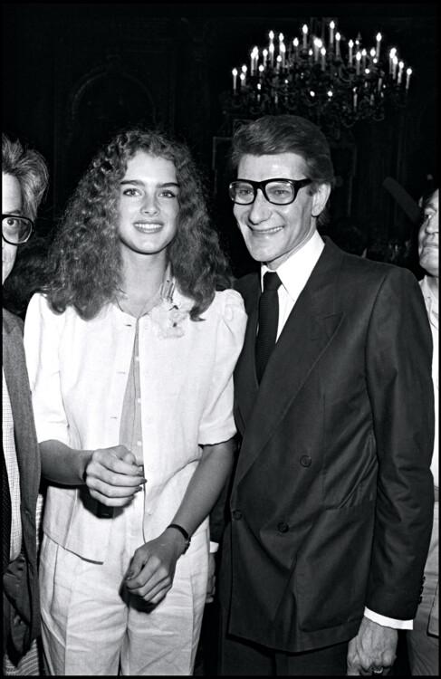 Брук Шилдс і Ів Сен-Лоран, 1980