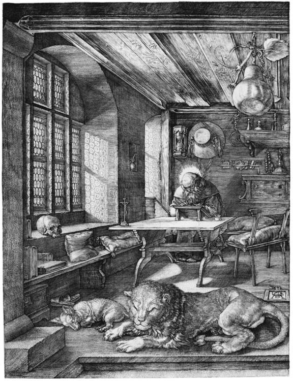 """""""Святий Ієронім у келії"""", 1514; Британський музей"""