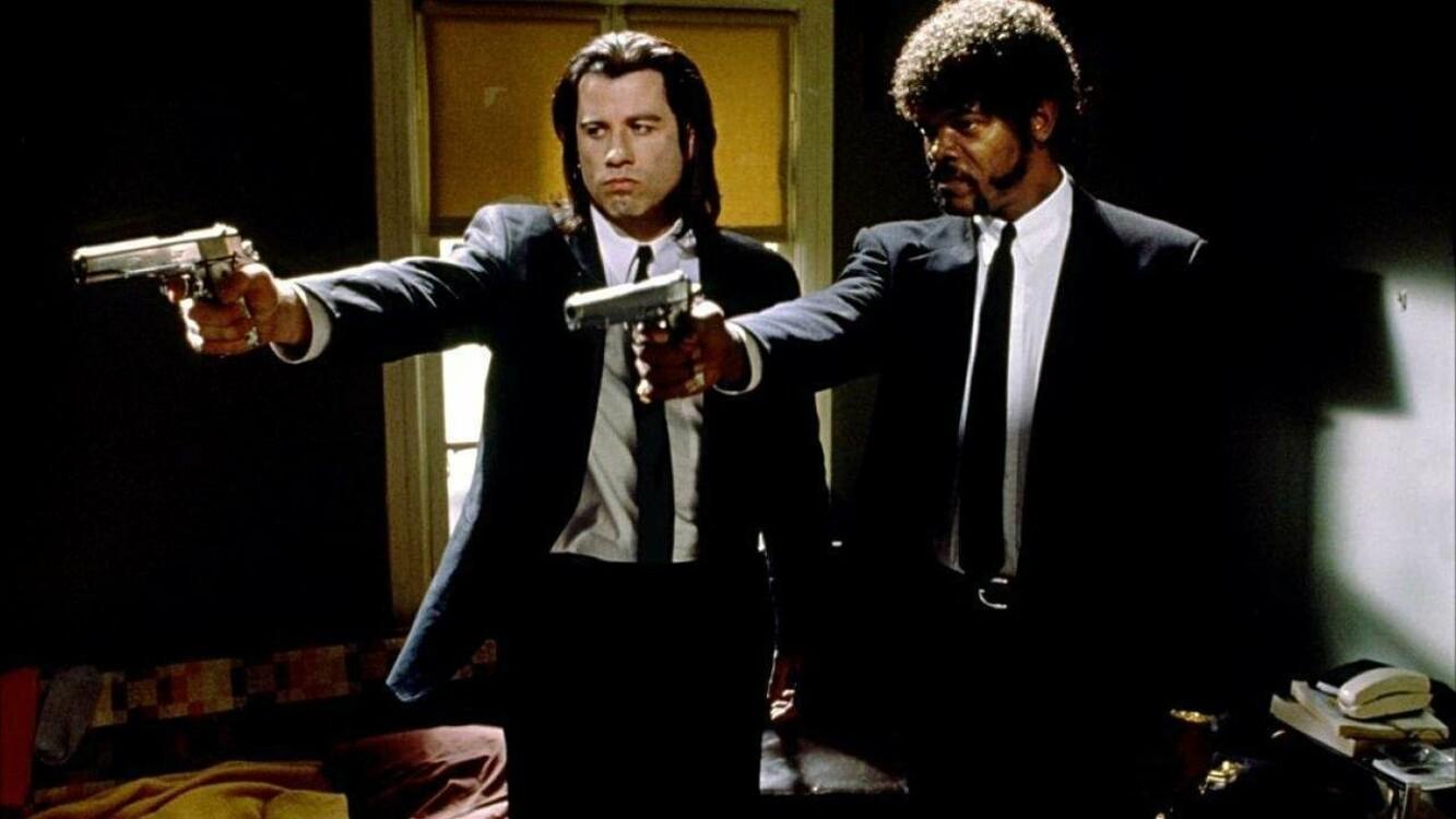 Джон Траволта и Сэмюэл Лерой Джексон в фильме «Криминальное чтиво», 1994