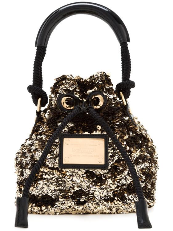 Красная с золотым хлопковая сумка-тоут мини Noe Rococo Louis Vuitton Vintage