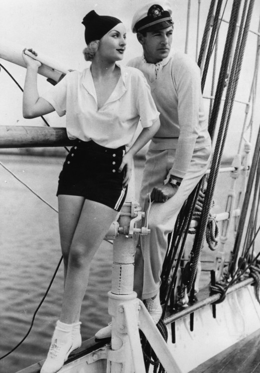 Кэрол Ломбард и Гэри Купер, 1930 год