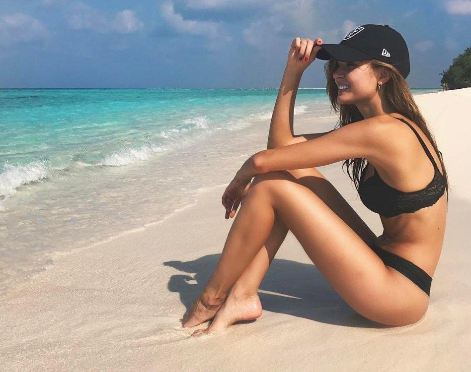 Жозефин Скривер на Мальдивах