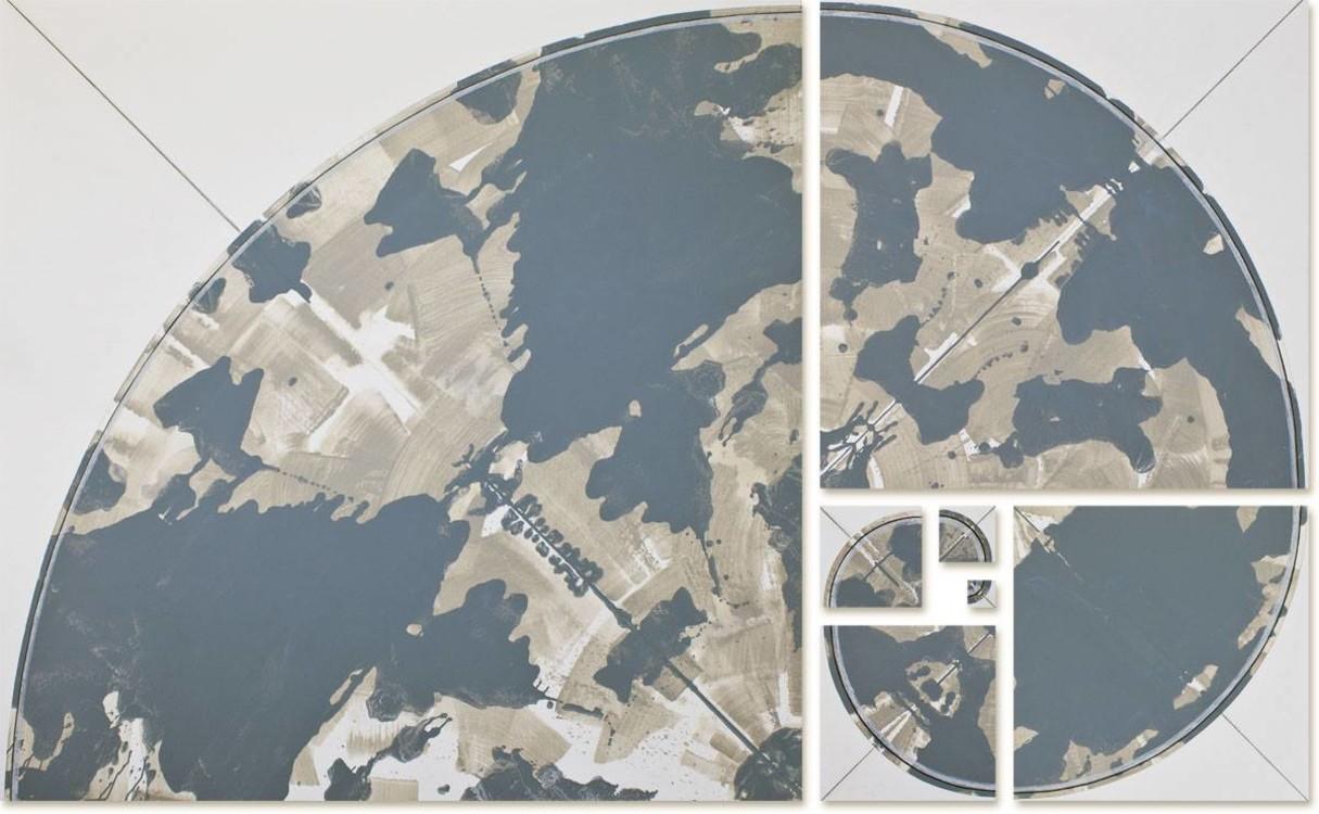 Яна Быстрова, 2016, Golden Ratio, холст, акрил, 200 × 327 см