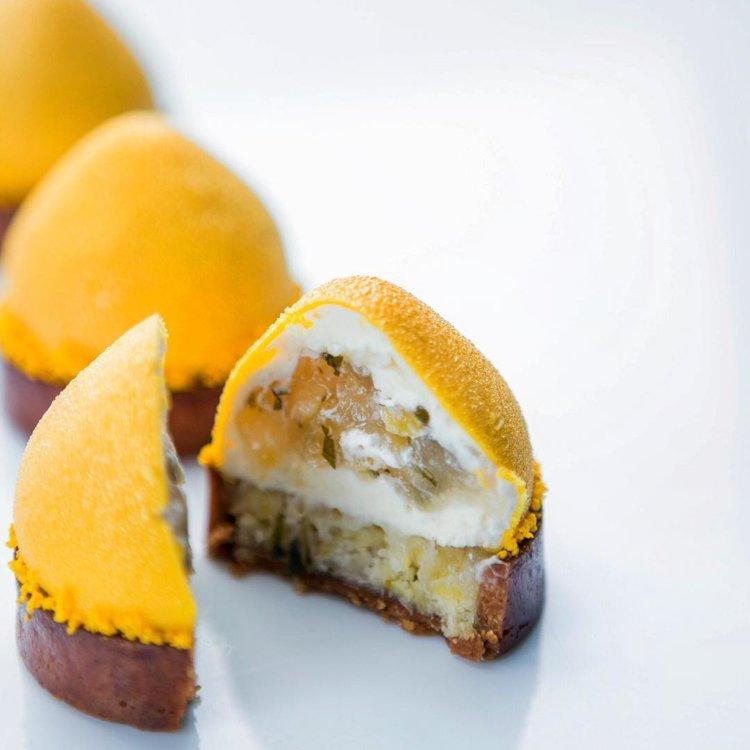 Лимонно-мятный пирог