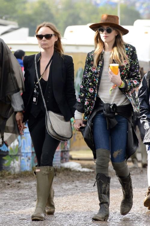 Со Стеллой Маккартни на фестивале Glastonbury, 2014 год