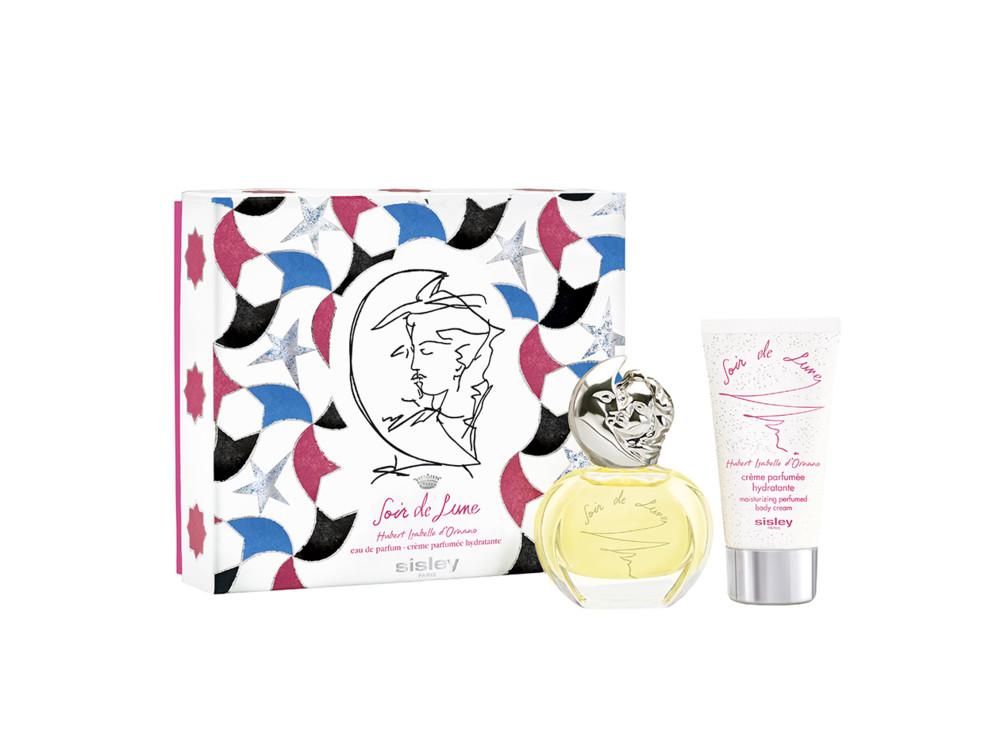 Рождественский набор Soir de Lune, парфюмированная вода и увлажняющий парфюмированный крем для тела, все – Sisley
