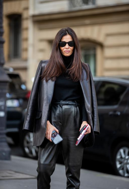 Как носить кожаный пиджак этой осенью 2020 стритстайл фото примеры фото