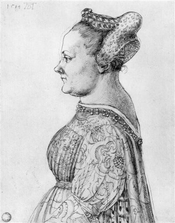 """Портрет жінки"", 1494; Бременська картинна галерея"