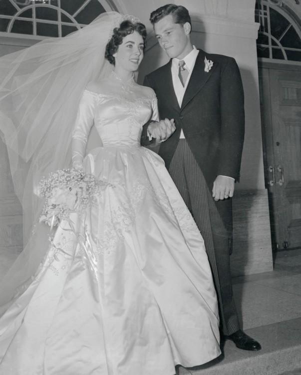 Свадебное платье Элизабет Тейлор, 1950
