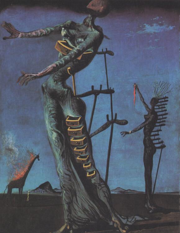 «Жираф в огне», 1936 —1937