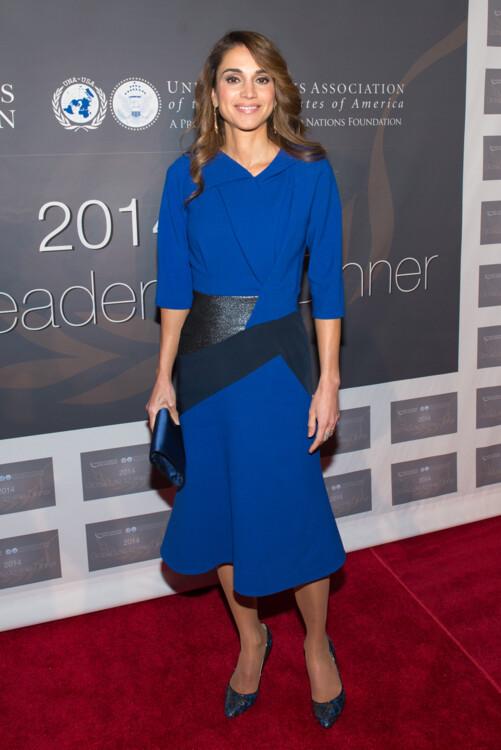 Королева Рания на ужине Global Leadership 22 октября 2014 года в Нью-Йорке