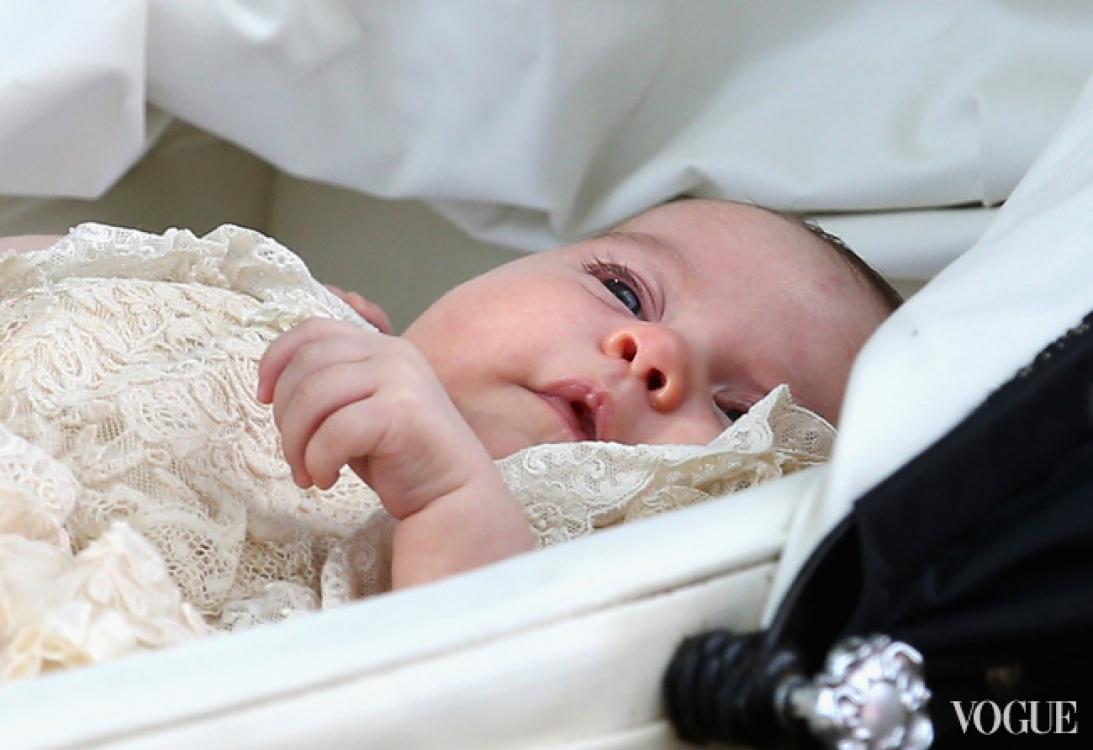 Принцесса Шарлотты во время своих крестин, июль 2015 года