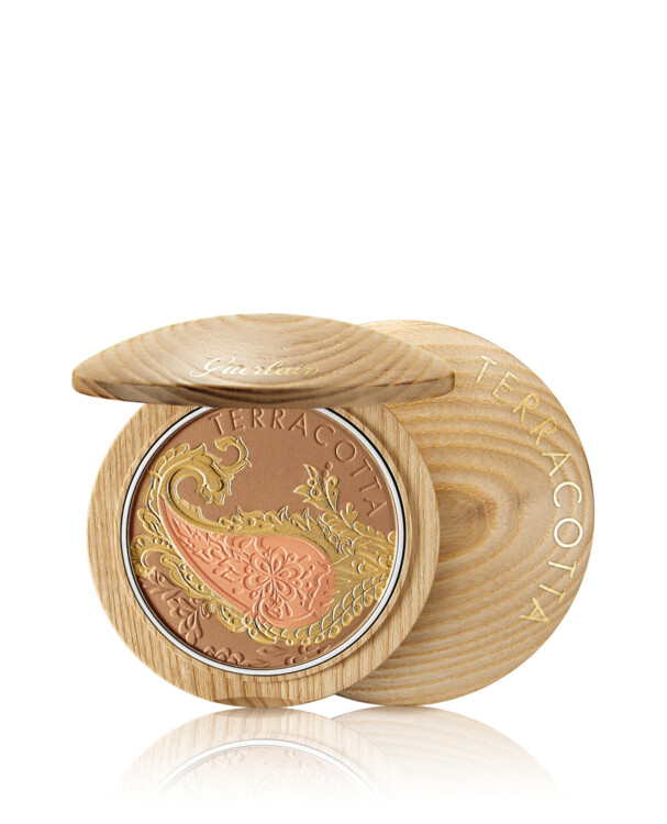 Компактные румяна-бронзер для лица и декольте Route des Indes Terracotta Bronzer & Blush Powder из летней коллекции макияжа Oriental Escapade, Guerlain