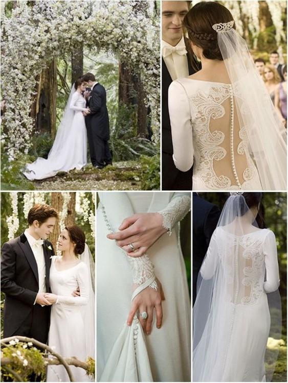 Каролина Эррера создала свадебное платье для Беллы Свон – главной героини фильма «Сумерки».