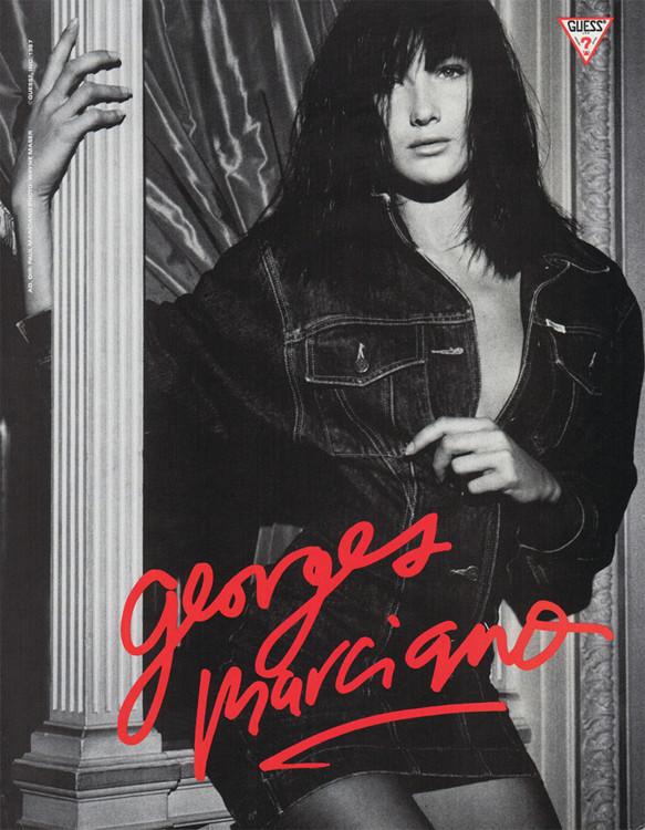 Карла Бруни в рекламной кампании Guess, 1987