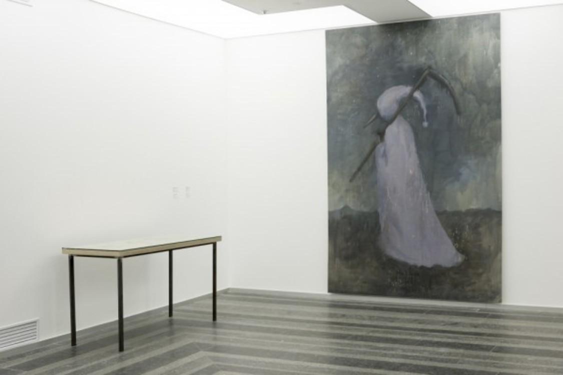 """Картина """"Смерть Буратино"""" на выставке в PinchukArtCentre (фото Сергей Ильин)"""