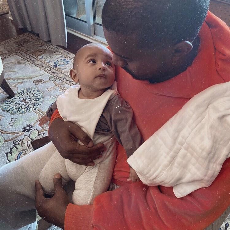 Канье Уэст с сыном