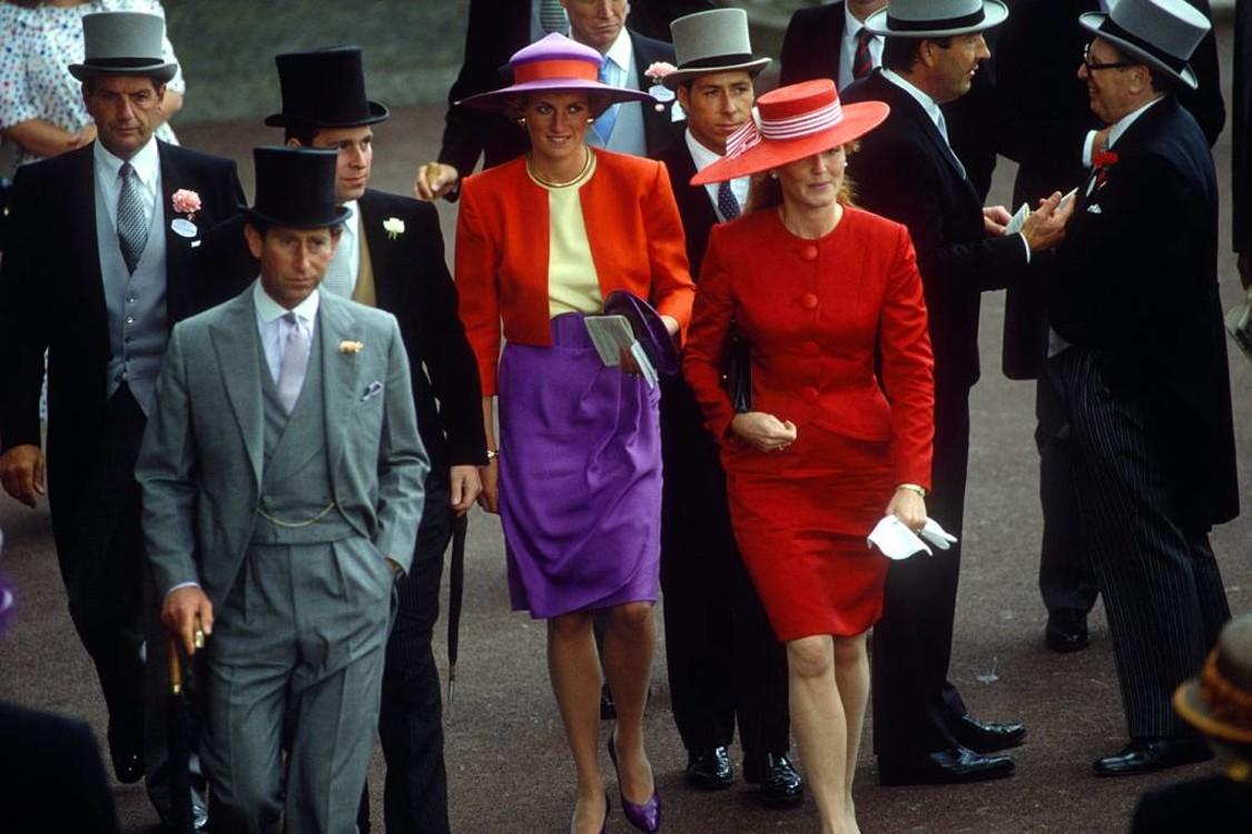Принц Чарльз, принц Ендрю, принцеса Діана і Сара, герцогиня Йоркська, 1990 рік