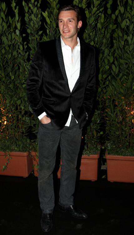Андрей Шевченко на ужине Extreme Beauty In Vogue во время Недели моды в Милане, 2009