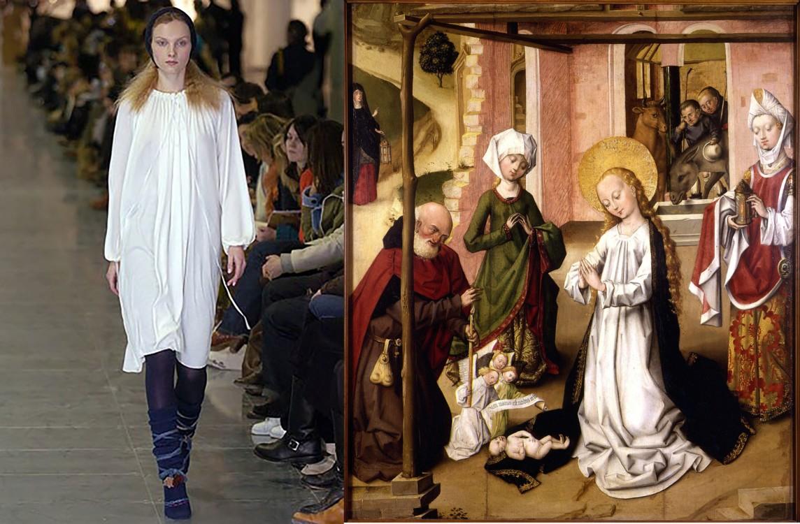 Peter Jensen осінь-зима 2005/2006;  Поклоніння немовляті Христу, 1475-1510