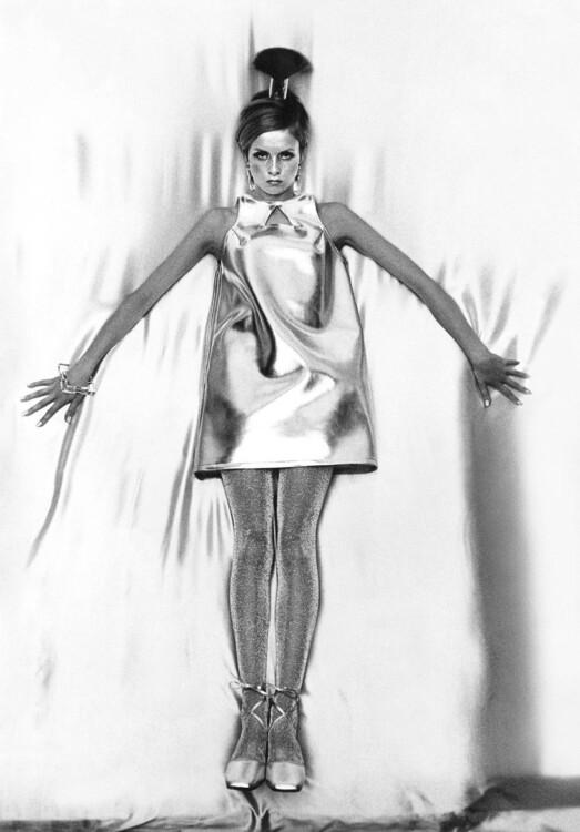 Твіггі як «переможець у космічній гонці» в панчохах з глітеру Mary Quant, жовтень 1966