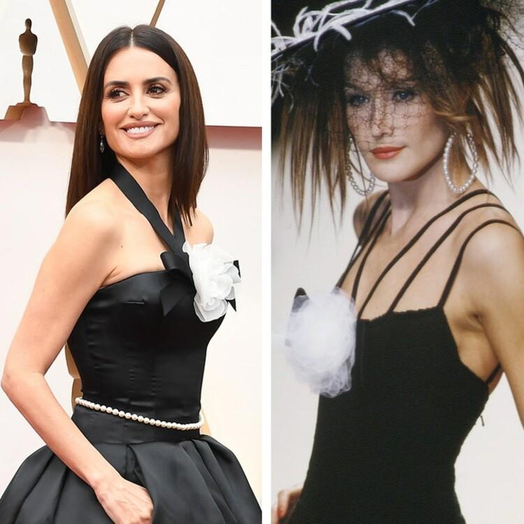 Пенелопа Круз в платье Chanel Couture, которое очень похоже на образ из коллекции бренда весна-лето 2995