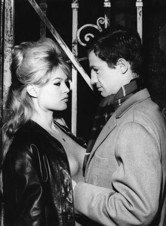 """С актрисой Брижит Бардо на съемках фильма """"Истина"""", 1960"""