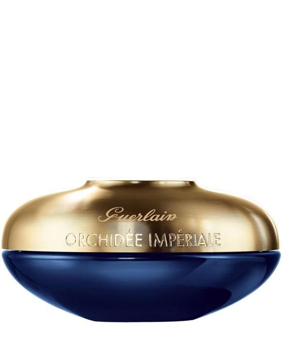 Насичений крем для сухої і нормальної шкіри Orchidee Imperiale 4G, Guerlain, з текстурою бальзаму, з алмазною пудрою в складі, маслом насіння абіссинської гірчиці