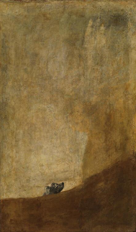 «Тонущая собака», 1823