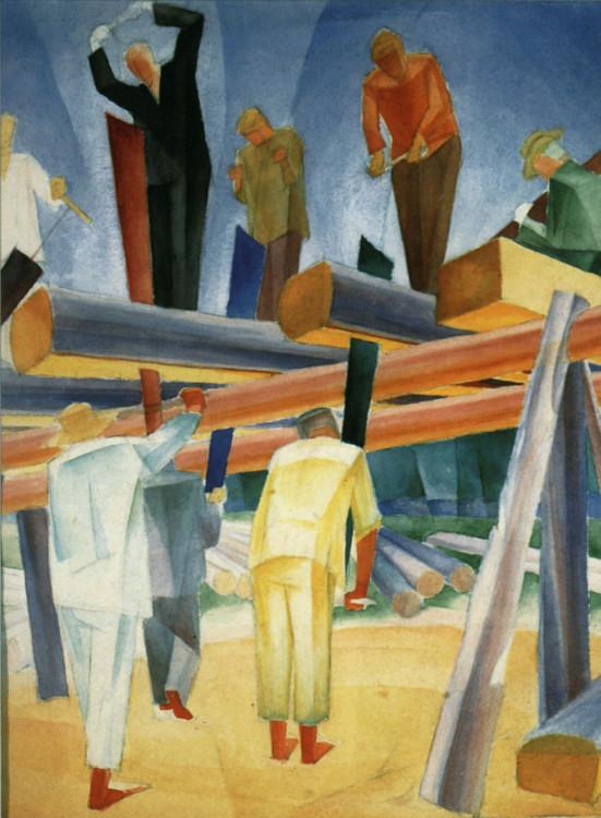 «Пильщики», 1925 (Национальный художественный музей Украины)