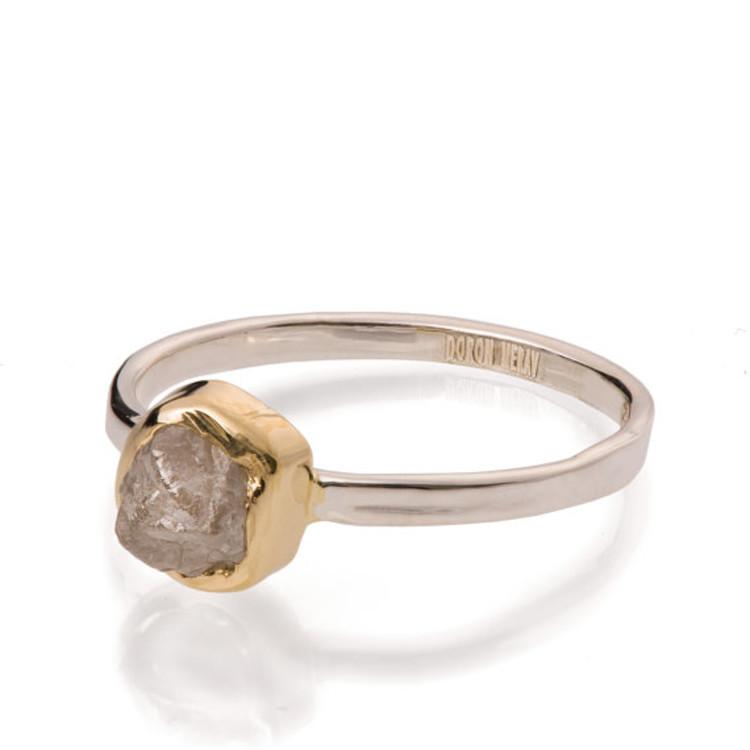 Кольцо, раф (rough diamond), Etsy