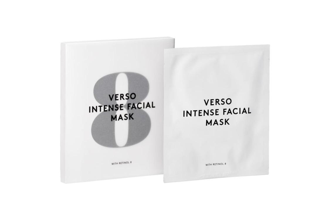Питательная гидрогелевая маска Intense Facial Mask with Retinol 8, Verso