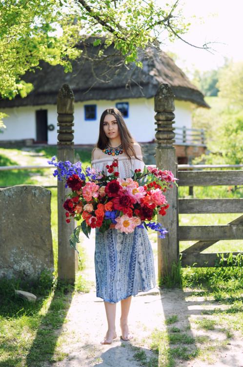"""Летняя коллекция букетов """"Гестия"""", цветочная мастерская LoraShen"""