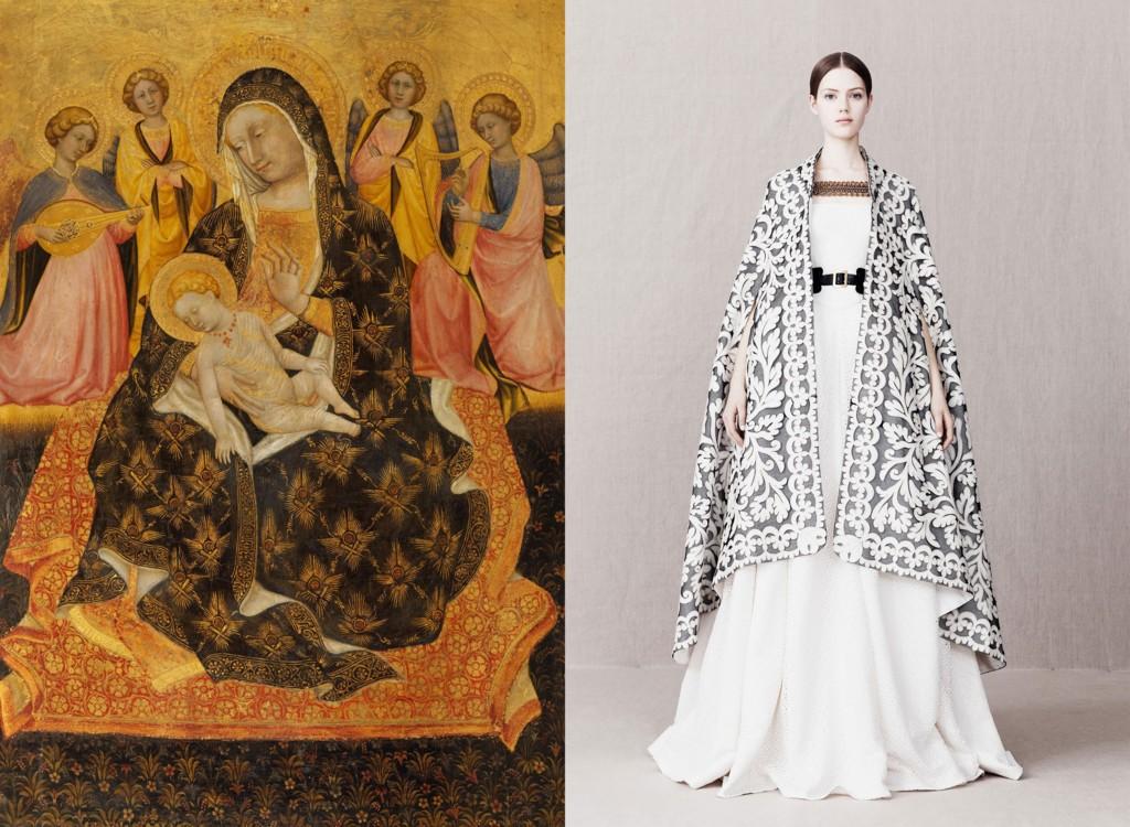«Мадонна с младенцем и ангелами», Пьетро ди Доменико да Монтепульчано, 1420; Alexander McQueen Pre-Fall 2013