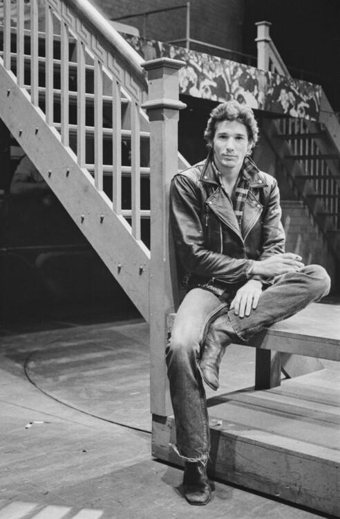 Ричард Гир в роли Дэнни Зуко в лондонском мюзикле «Бриолин», 1973