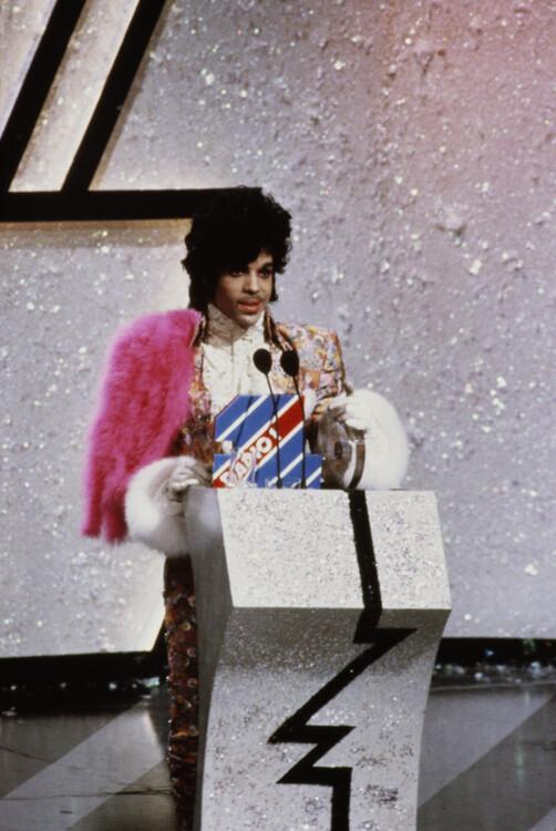 Принц на церемонии вручения наград BRIT Awards, 1985