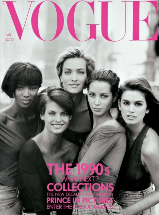 Обкладинка британського Vogue (січень, 1990)