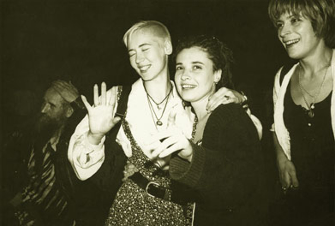 Валерия Трубина, Татьяна Гершуни (Тая Галаган), Тата Савадова, Киев, 1994 г.