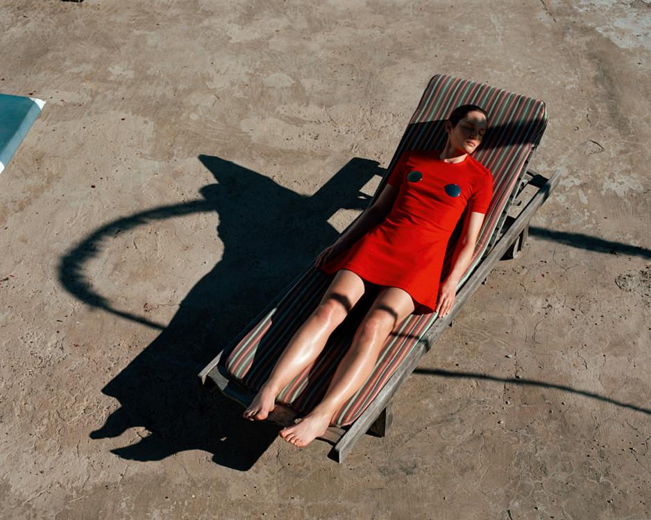 Платье из вискозы и хлопка, Rudi Gernreich