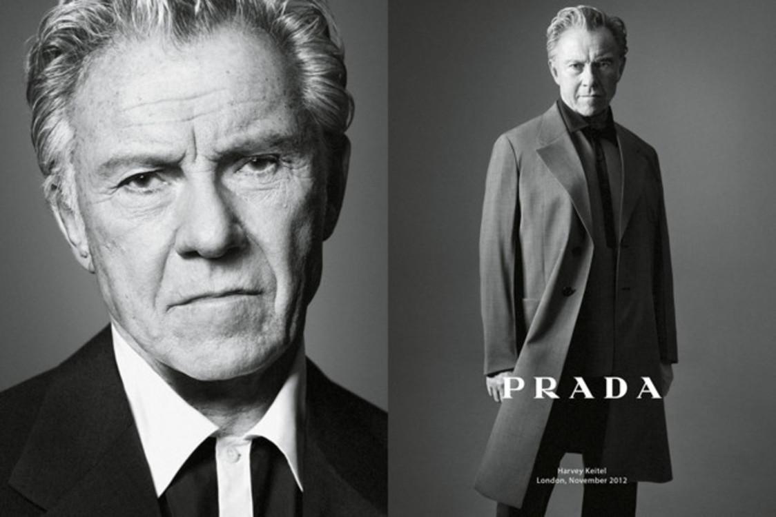 Харви Кейтель в рекламной кампании Prada весна-лето 2013