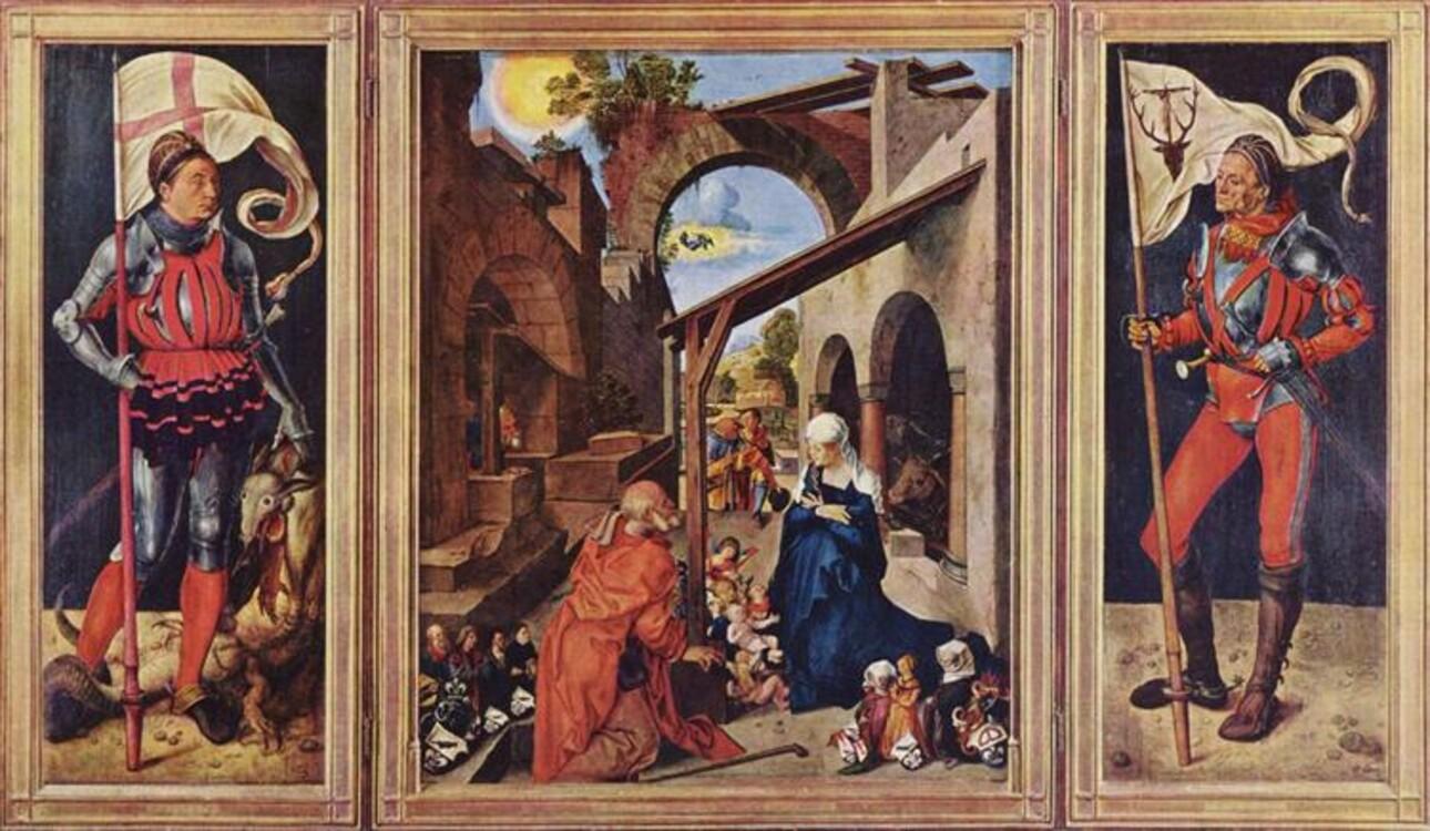 """""""Вівтар Паумгартнерів"""", 1503; Музей Баварії"""