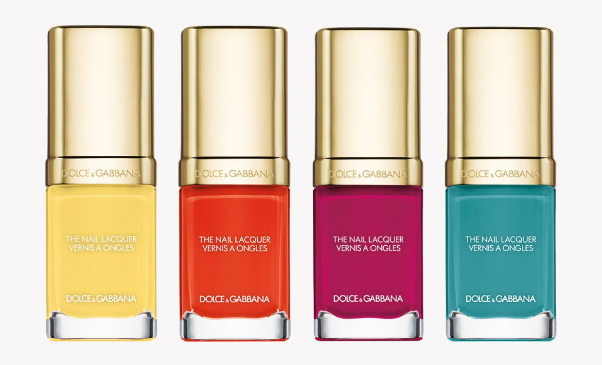 Лак для ногтей Intense Nail Lacquer в оттенках Lemon, Orange, Cyclamen и Turquoise
