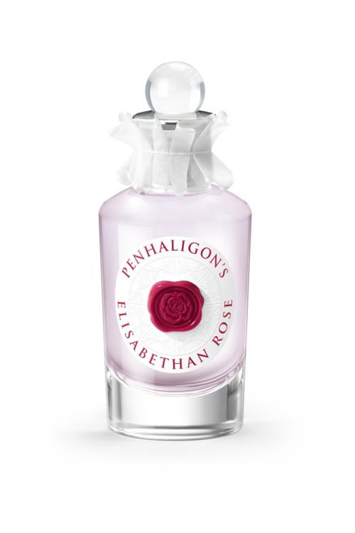 Elisabethan Rose, Penhaligon's, - роза в необычном обрамлении ветивера, листьев орешника, корицы и миндаля