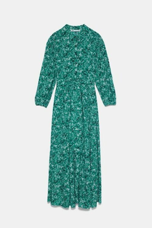 Зеленое платье ZARA, вдохновленное образом принцессы Дианы фото