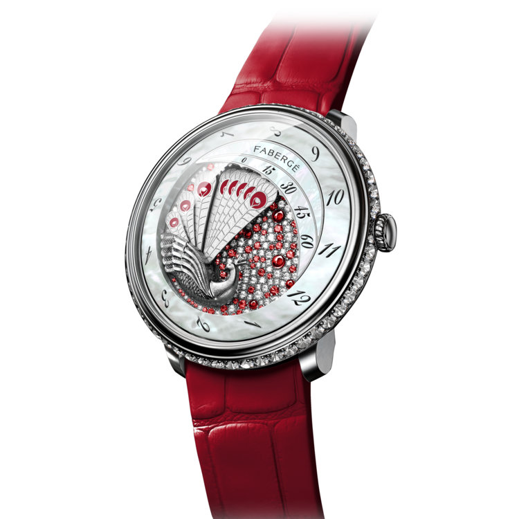 Часы Lady Compliquée Peacock Ruby, Faberge